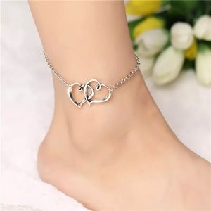 New Anklets Bracelet Wild Love Heart-shaped Double